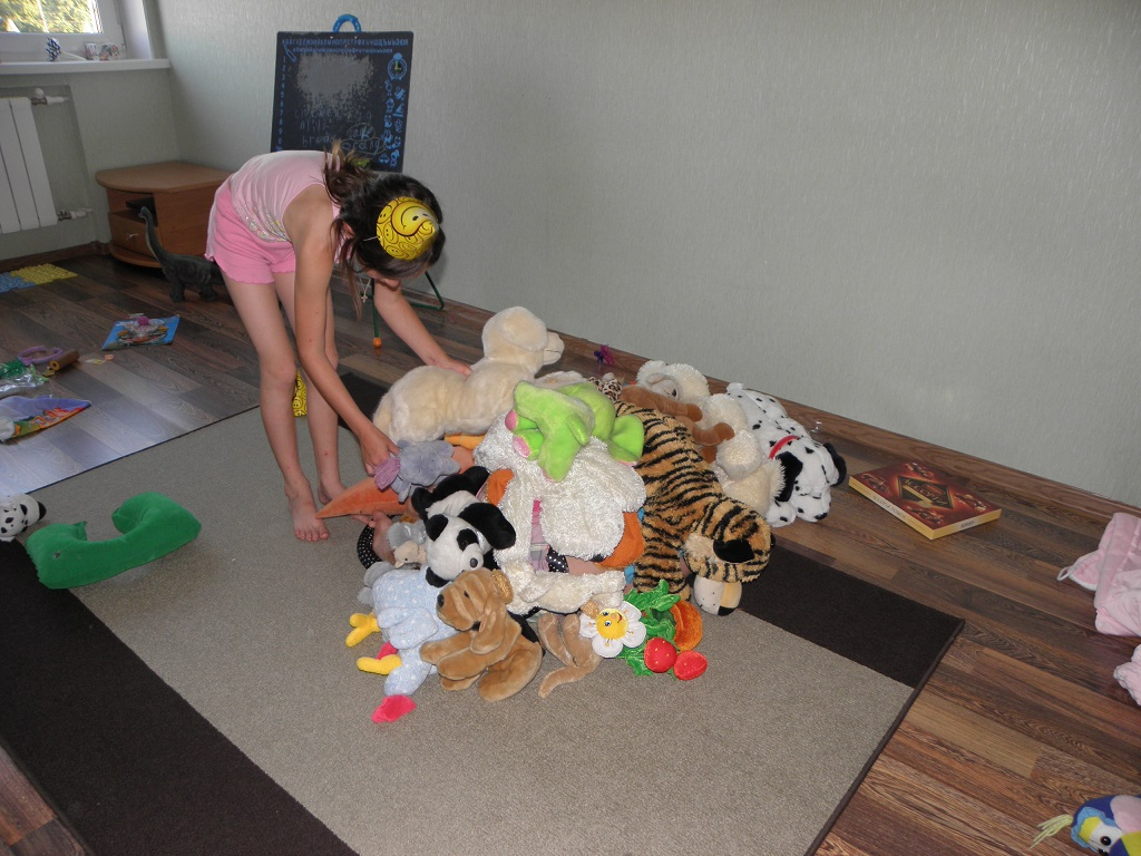 These are not even all her plush animals