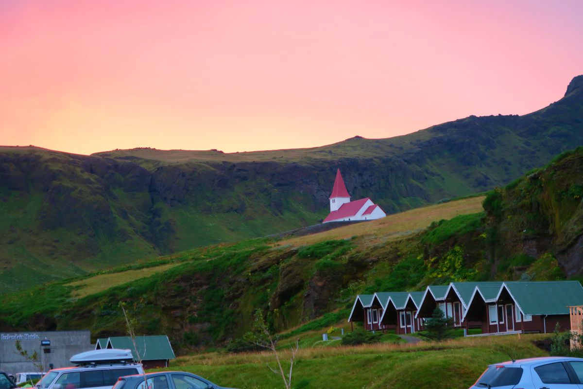 Camp site in Vik