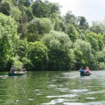 Canoe camping trip on the river Thames