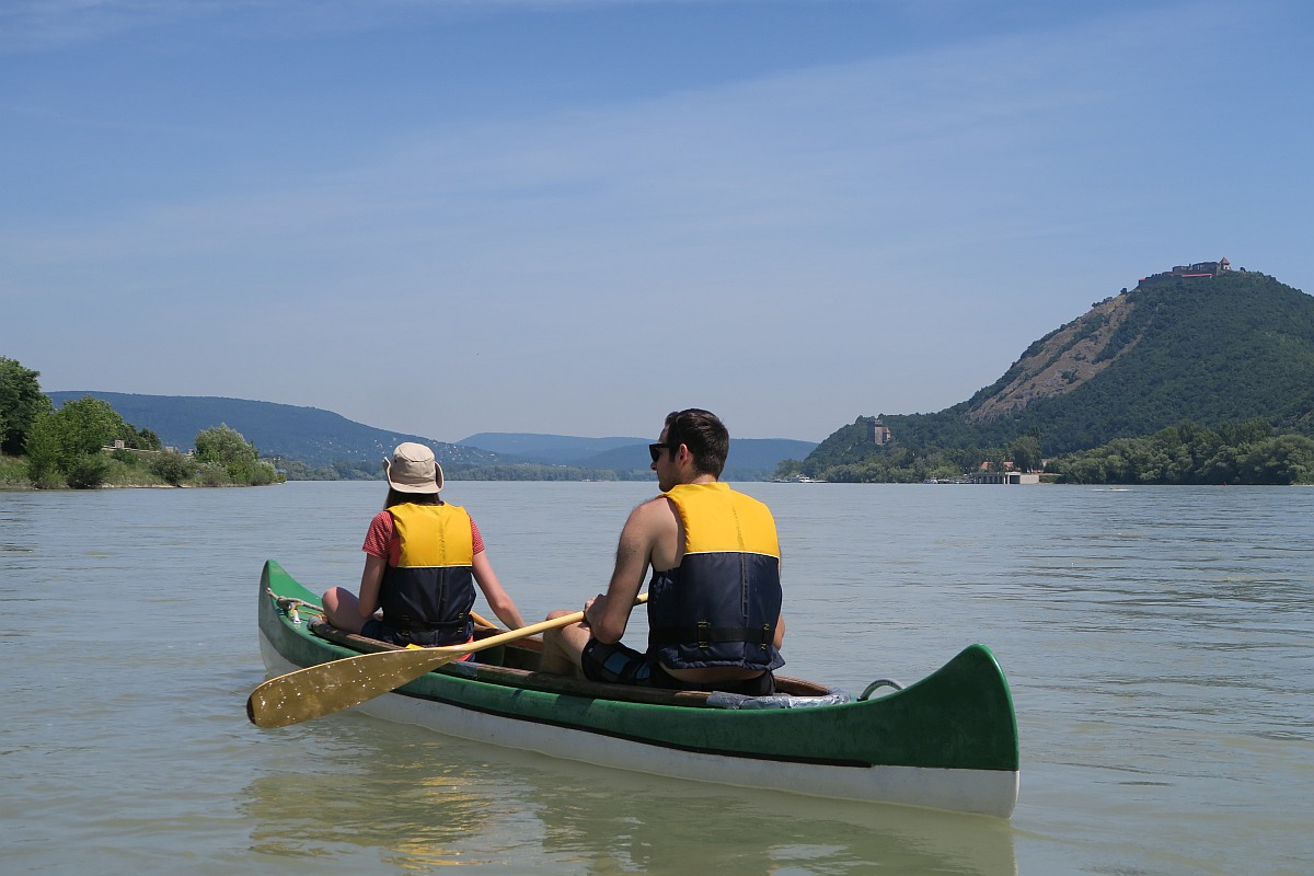 Canoeing on the river Danube