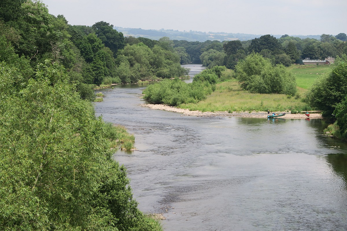 View from the bridge in Hay-on-Wye