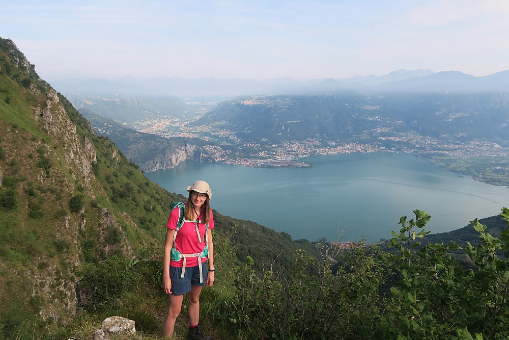 Our first view to Lake Iseo