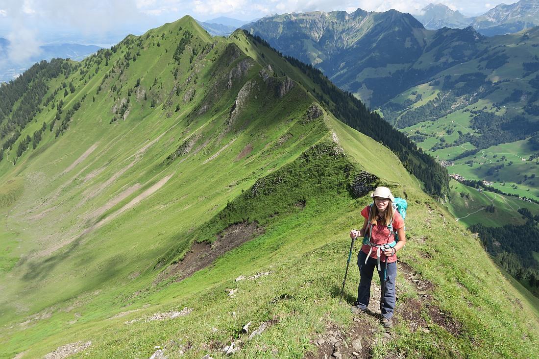 Hiking the Arnigrat ridge in Switzerland