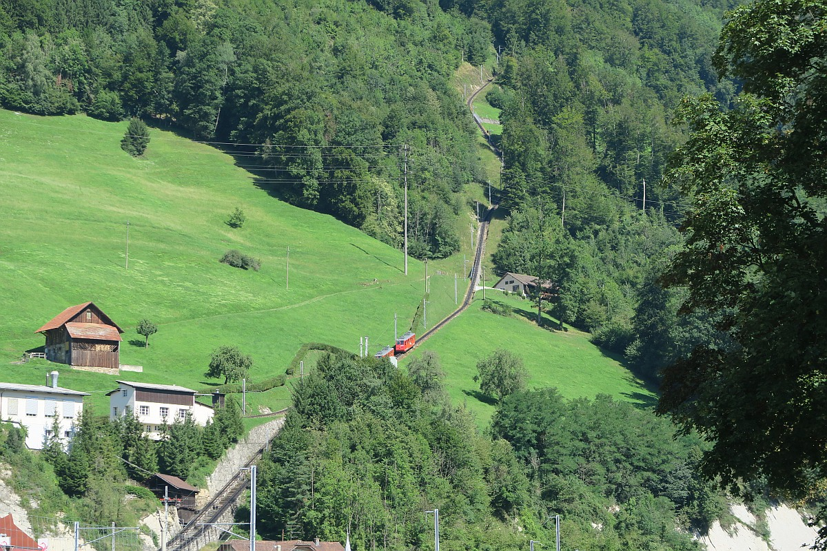 The steepest cogwheel going up to Pilatus